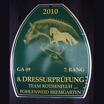 News - Pferde - 2010 - Dressurprüfung - Team Rothenfluh Fohlenweid Bremgarten