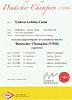 Urkunde - Unicca - Deutscher Champion VDH