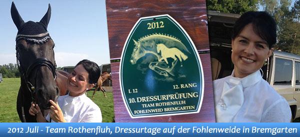 News - Pferde - 2012 - Dressurtage auf der Fohlenweide in Bremgarten