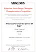 Urkunde - Pearl - Schweizer Ausstellungs-Champion